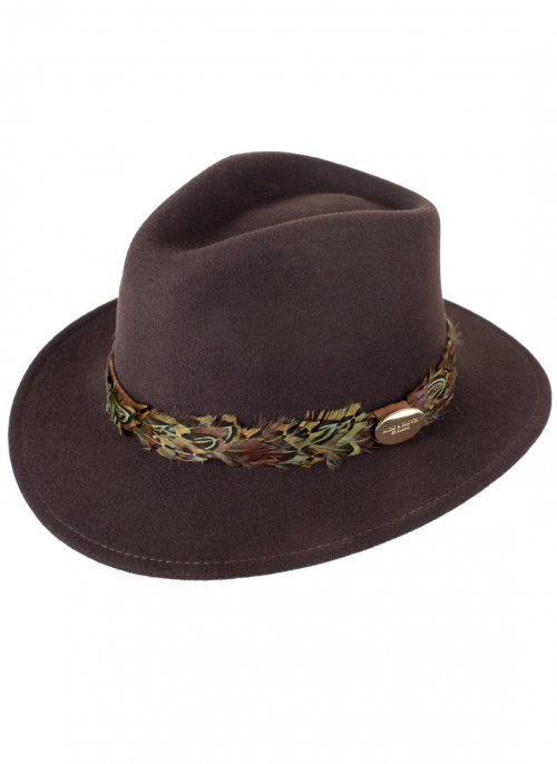 hicks and brown pheasant wrap hat