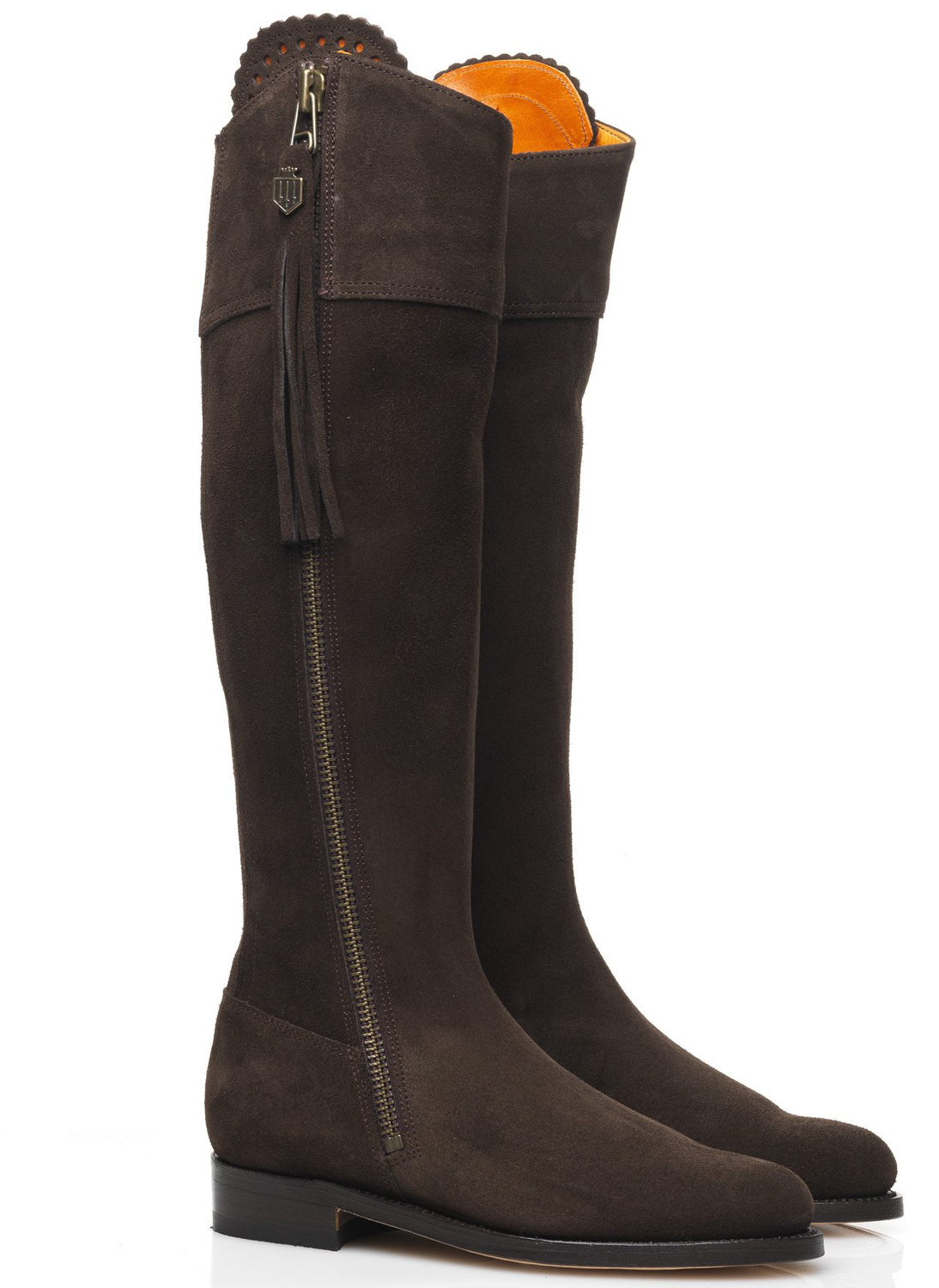 fairfax and favor flat chocolate suede boots