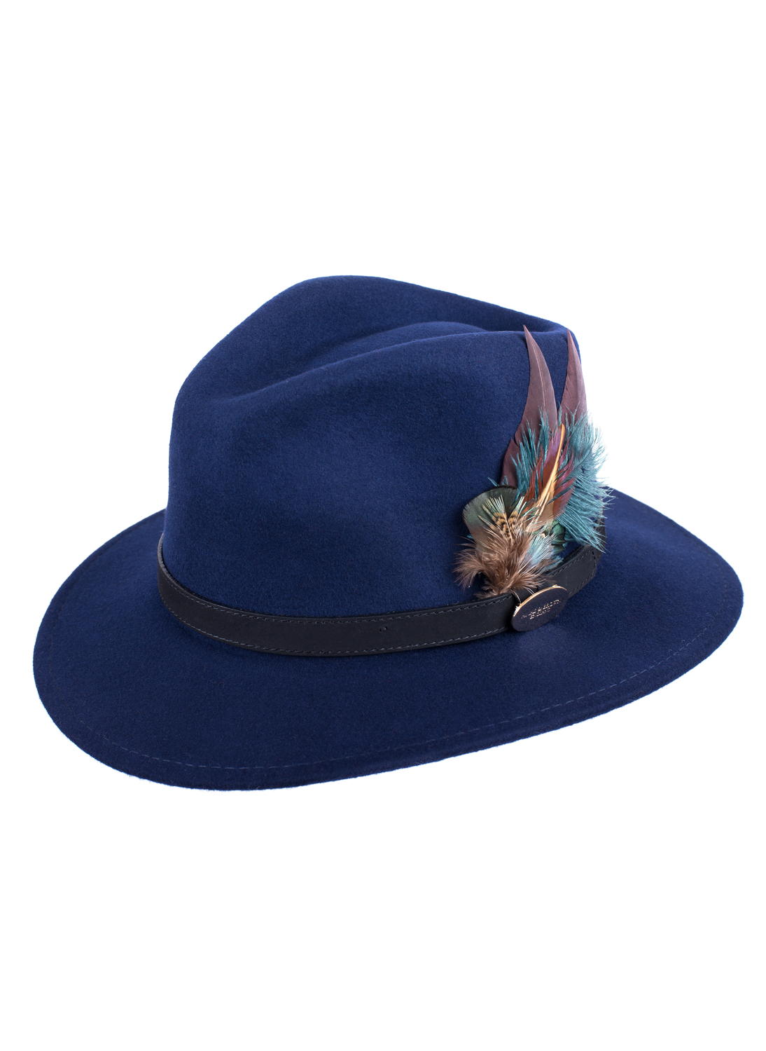 ced06d004a9 Hicks and Brown Classic Feather Hat In Blue - Bredon Hill Country