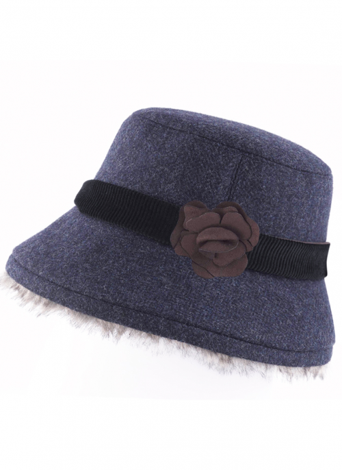jack-murphy-linda-tweed-ladies-navy-herringbone-hat