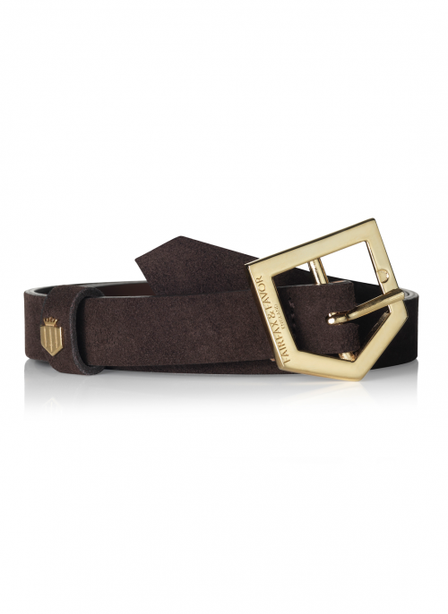 fairfax & favor suede belt