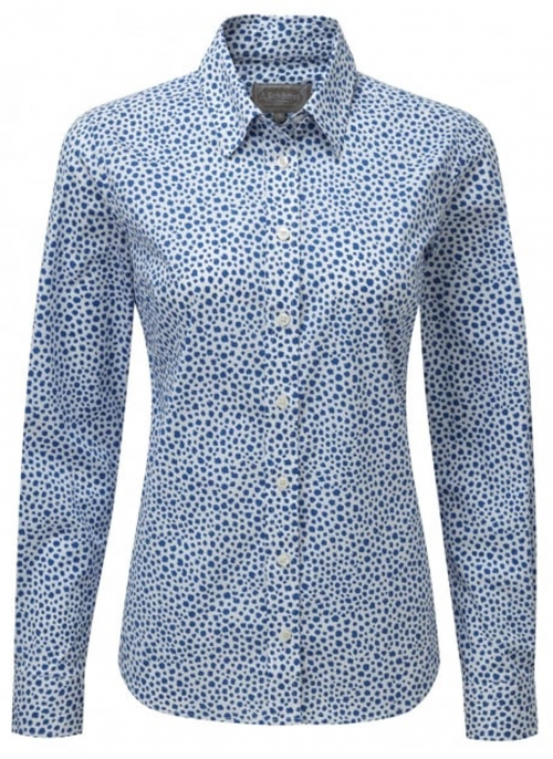 schoffel-suffolk-blue-spot-blouse-bredonhillshooting