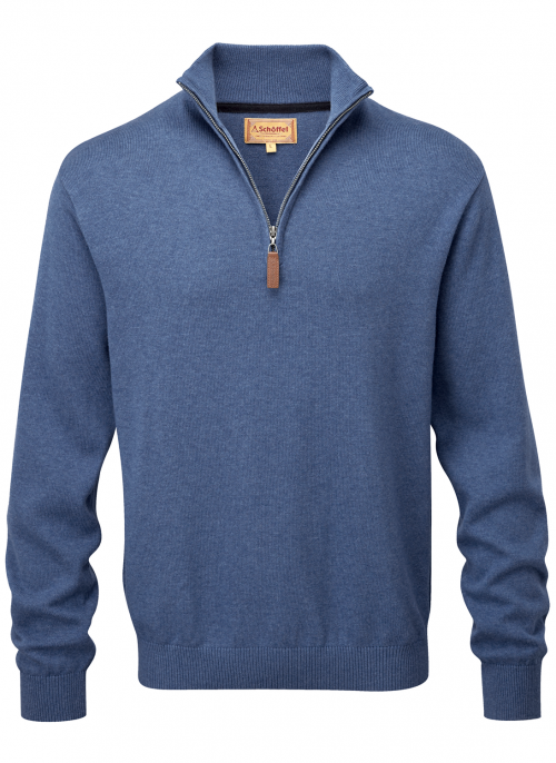 schoffel-cotton-cashmere-zip-stone-blue-jumper