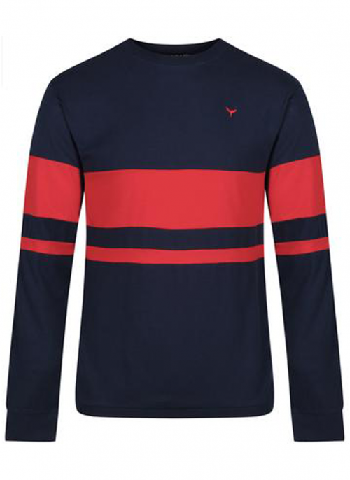 whale-of-a-time-clothing-blakeney-navy-red-tshirt-bredonhillshooting