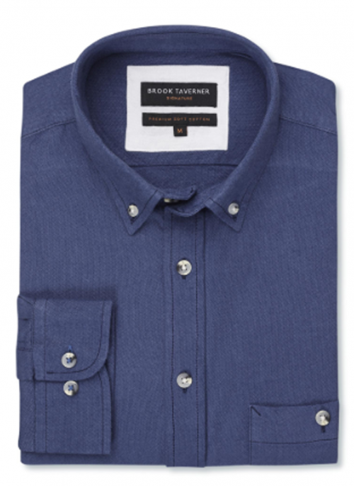 brook-taverner-danbury-oxford-soft-touch-navy-shirt-bredonhillshooting