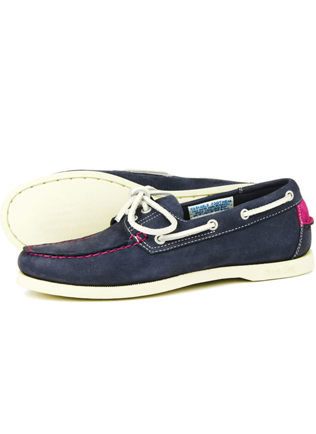 4a28479122c76 ... Ladies Footwear / Orca Bay Sandusky Machine Washable Indigo Deep Pink  Deck Shoes. orcabay-sandusky-indigo-pink-deckshoe-bredonhillshooting