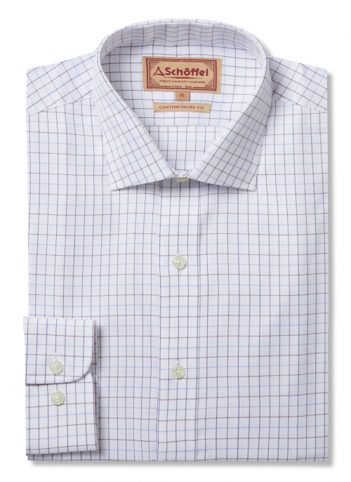 schoffel-buckden-fig-blue-purple-check-shirt