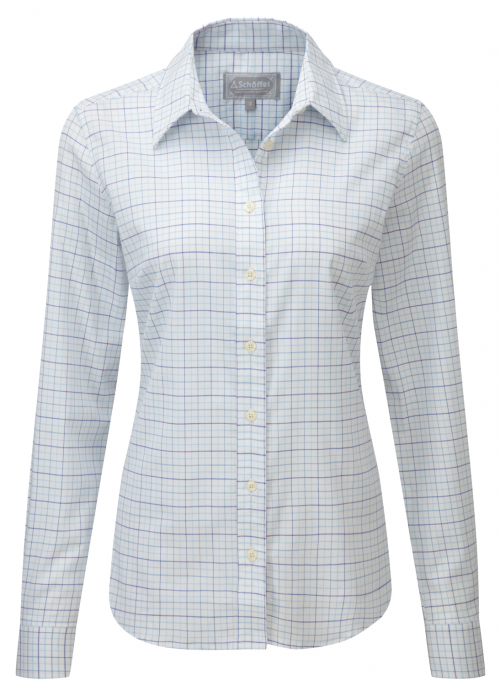 schoffel-tattersall-blue-check-ladies-shirt
