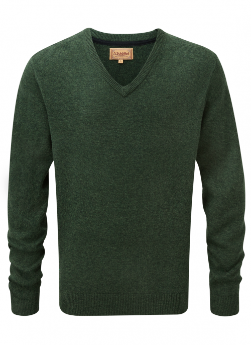 schoffel-lambswool-forest-v-neck-jumper