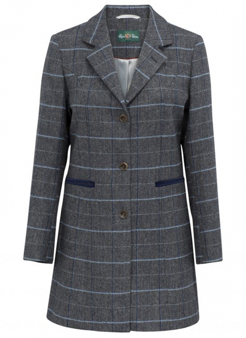 alan-paine-surrey-ladies-long-lake-blue-tweed-coat