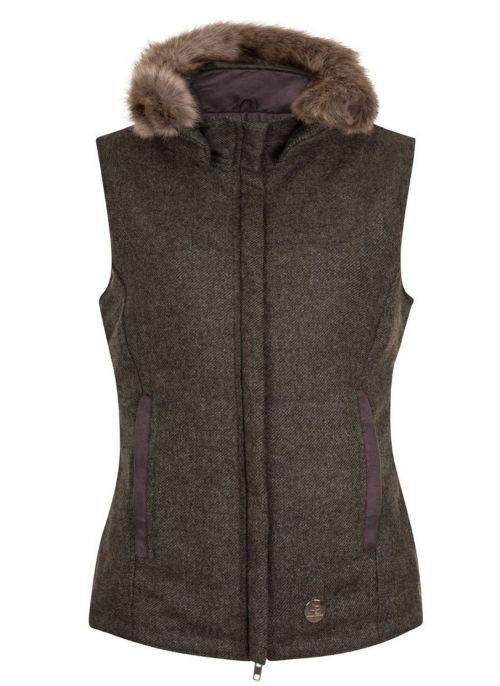 annabel-brocks-Pelham-green-tweed-gilet