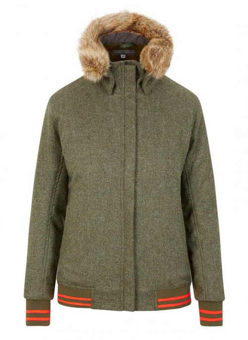annabel-brocks-bomber-green-tweed-jacket