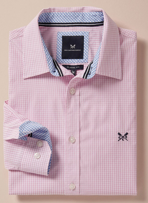 crew-clothing-classic-pink-micro-gingham-check-shirt-folded