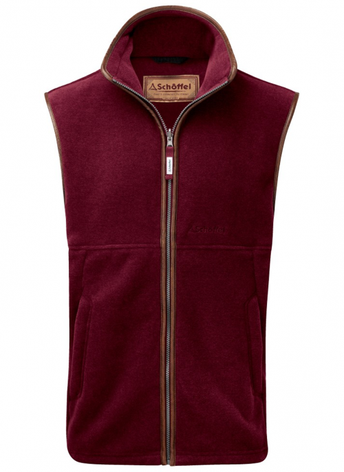 schoffel-oakham-claret-fleece-men's-gilet
